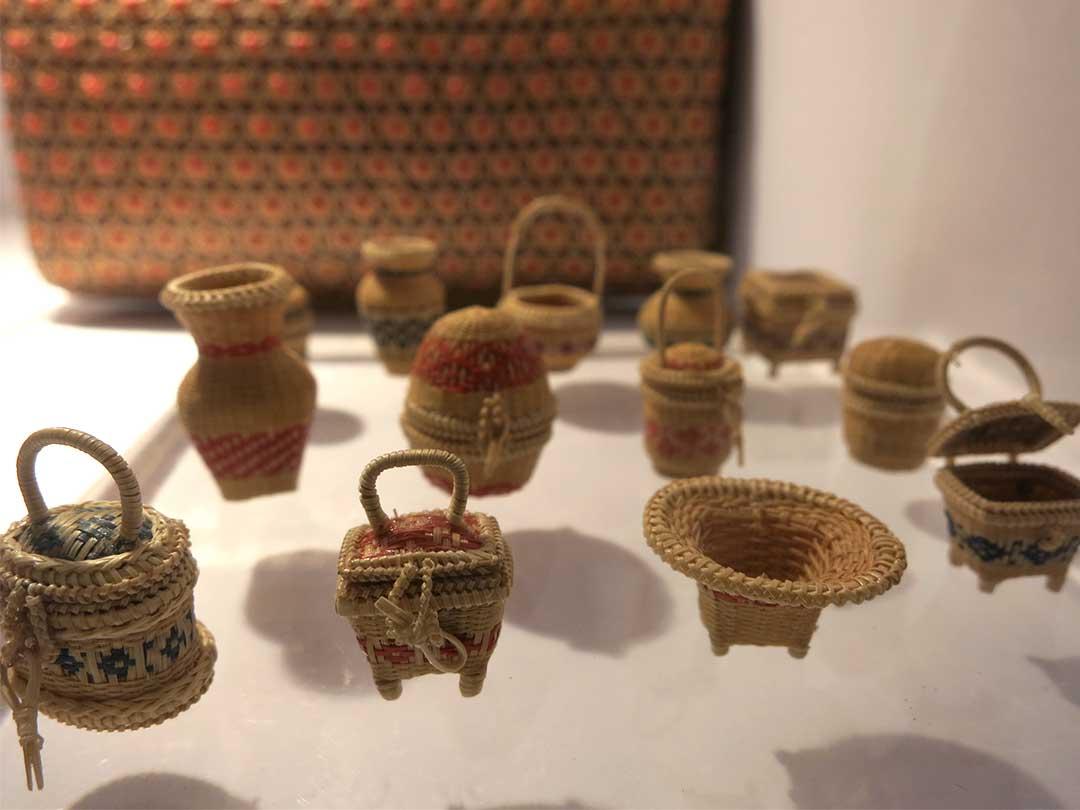 タイの緻密な竹細工