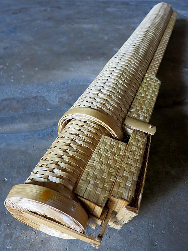 鰻ウケに似た竹編み