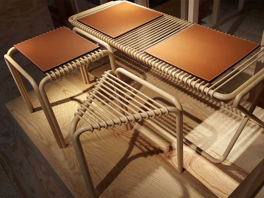 パリ・エルメス(HERMES)本店の竹家具