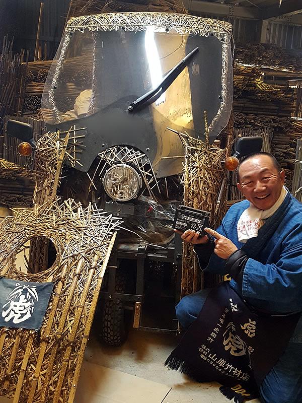 虎竹製の電気自動車「竹トラッカー」