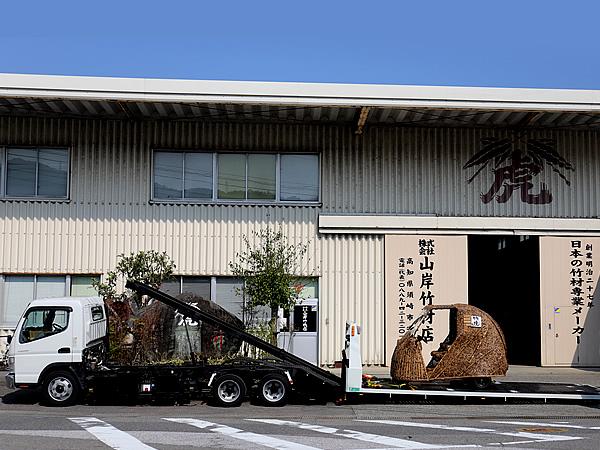 竹トラッカー輸送