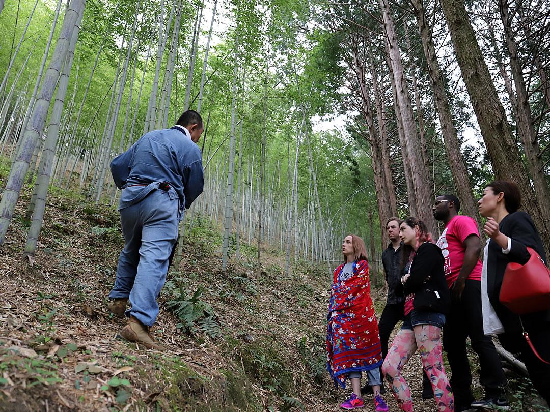 フランスの須崎大使、虎竹の里見学