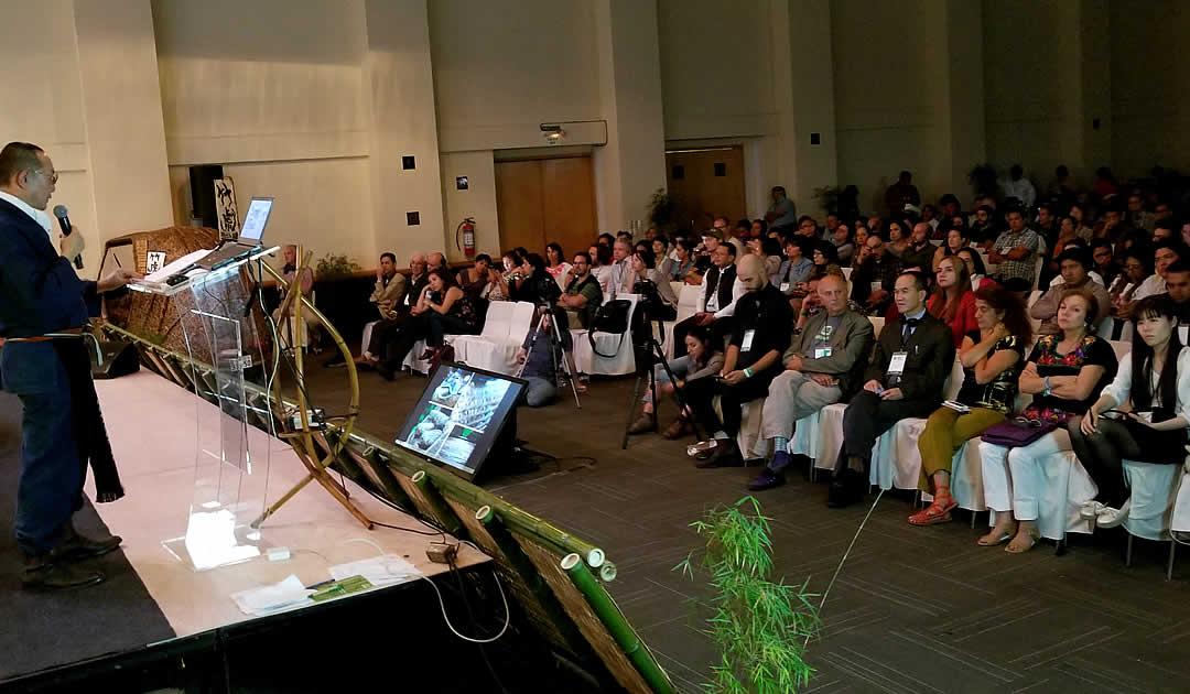 世界竹会議メキシコ、竹虎四代目基調講演