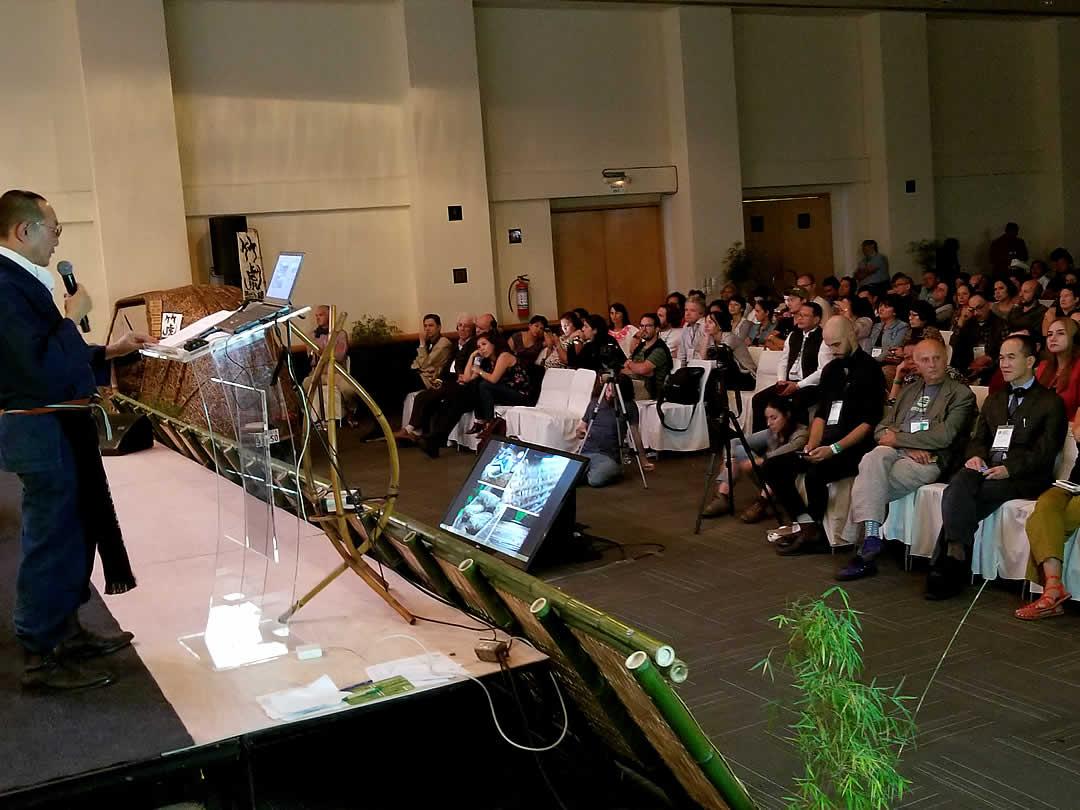 竹虎四代目(YOSHIHIRO YAMAGISHI)、世界竹会議(11th World Bamboo Congress Mexico)