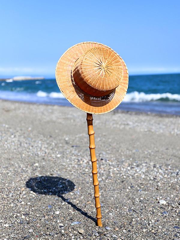 竹帽子と竹根杖