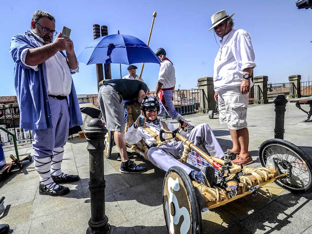 スペイン、ビトリアボックスカートレース