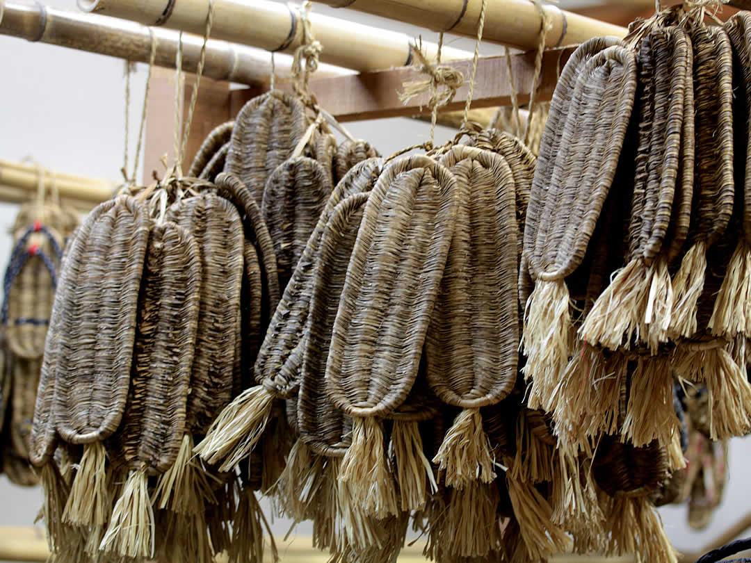 竹皮底編み