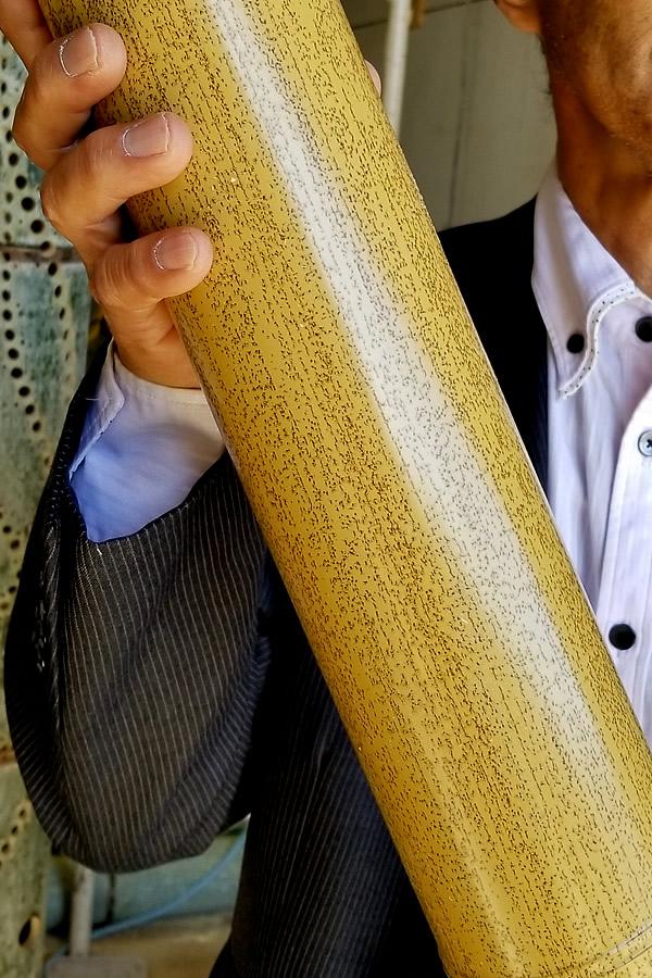 ゴマ竹を模した人工竹(AS系樹脂)