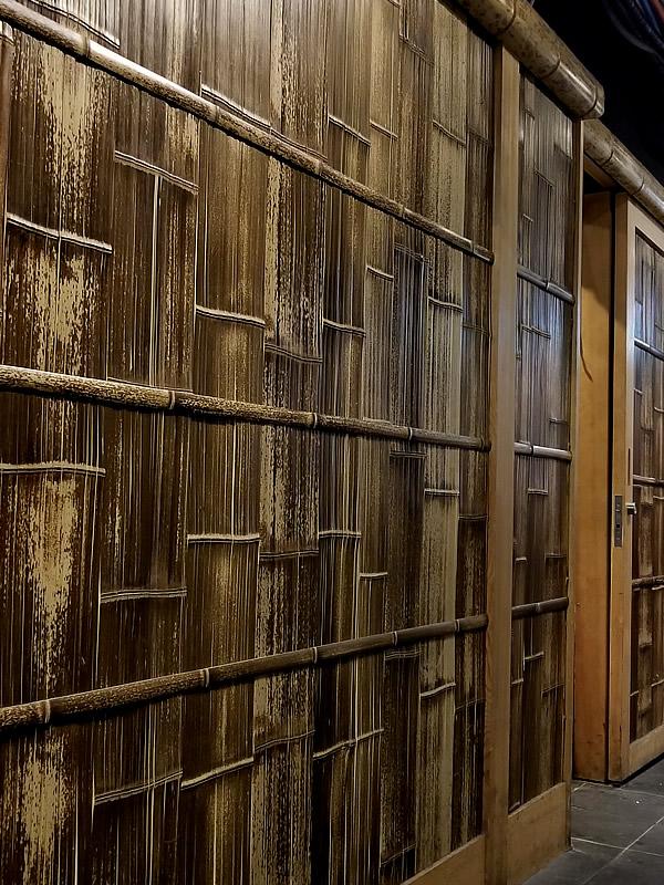 虎竹ひしぎ張りの壁