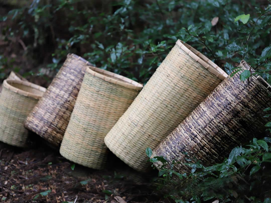 竹編みチリ箱