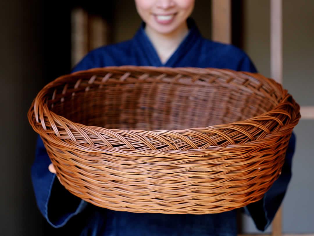 シダ編み洗濯籠(ワラビ籠)