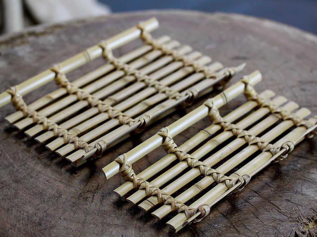竹ペン置き