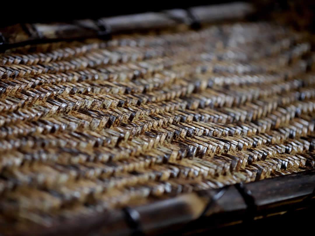 虎竹網代編み