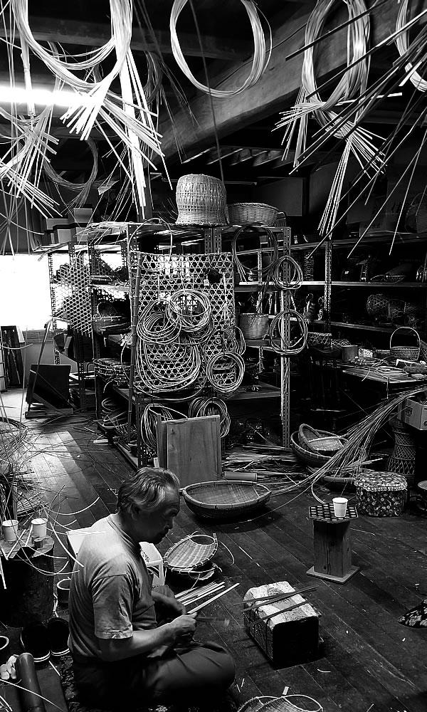 竹職人の工房