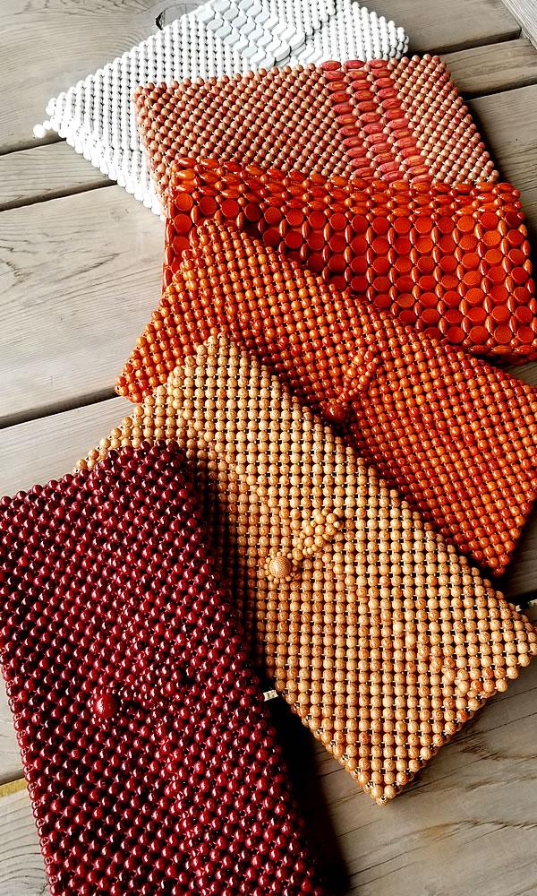 竹レトロハンドバッグ