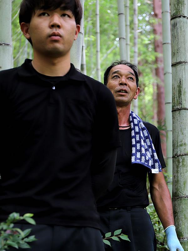 竹虎インターンシップ、竹林見学