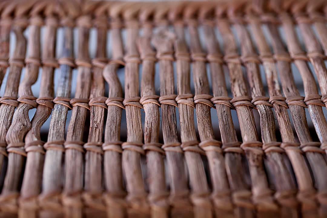 山葡萄買い物籠タナ編み