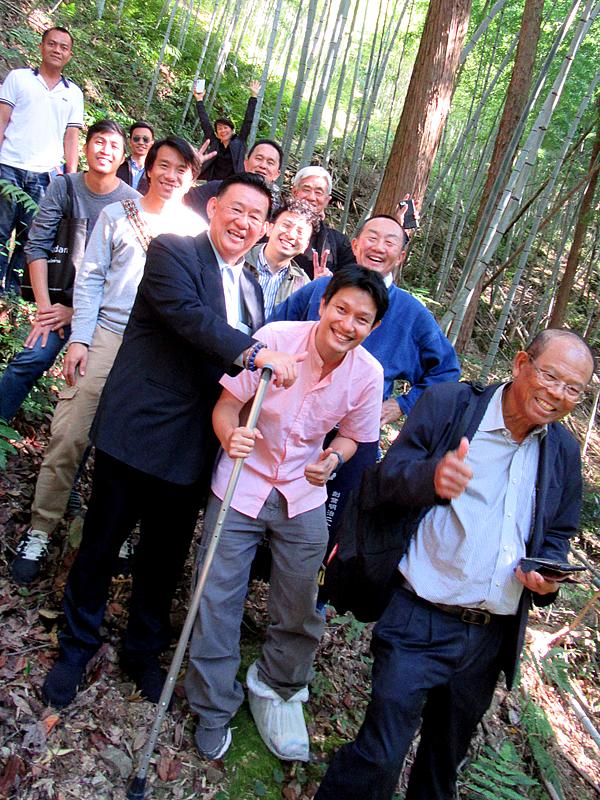 竹林見学、タイからのお客様