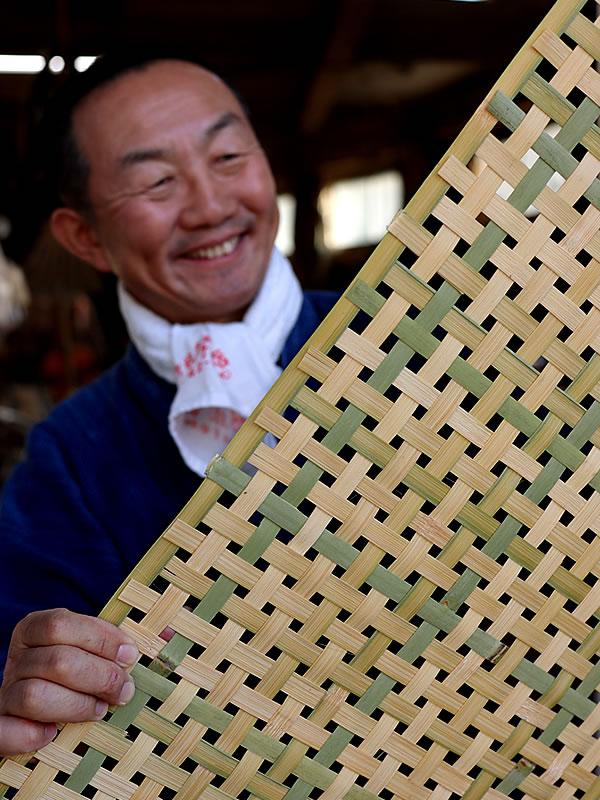 竹四ツ目編み