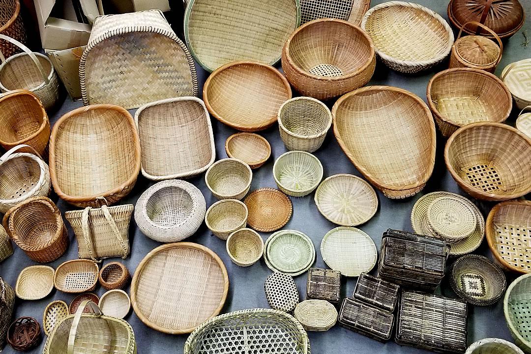 パリ展示会候補の竹籠
