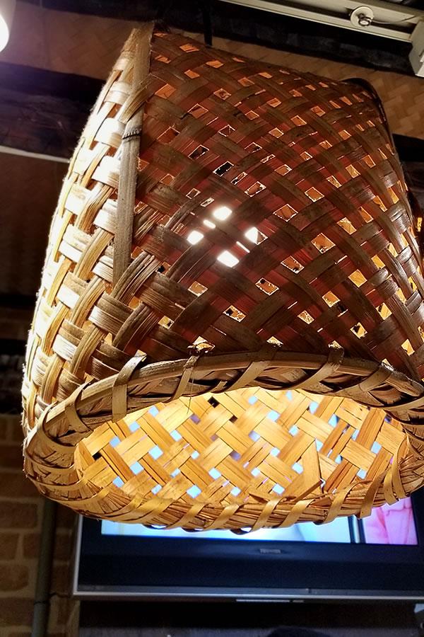 竹籠照明、竹ライト