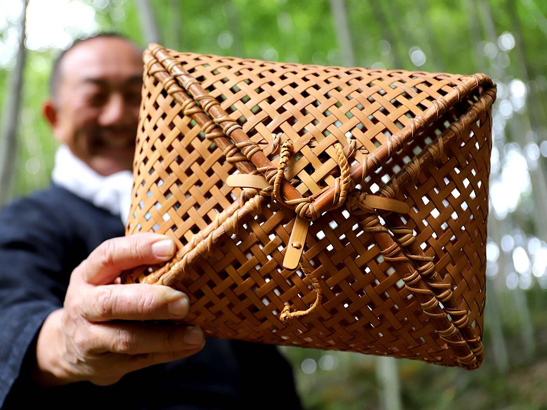 白竹風呂敷セカンドバッグ、弁当箱