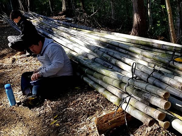虎竹の里、虎竹林でのランチタイム