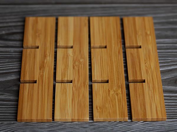 井型仕切り、お節料理、竹二段重箱
