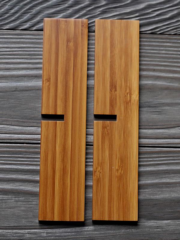 お節料理、竹二段重箱、十文字仕切り