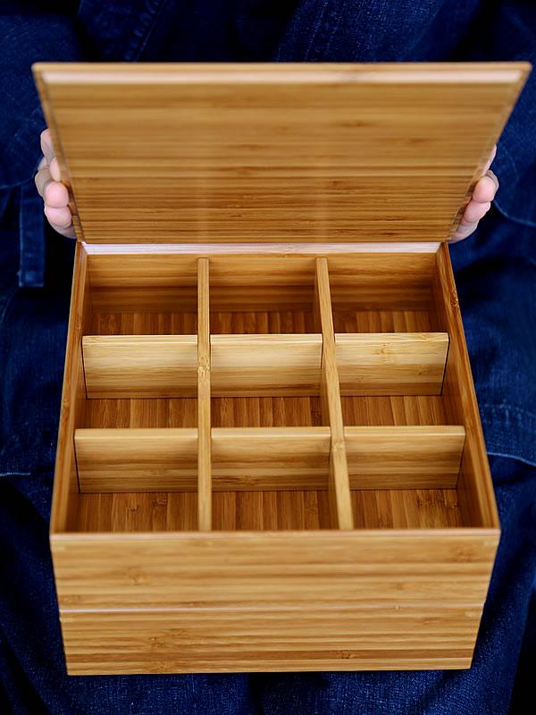 お節料理、竹二段重箱、弁当箱