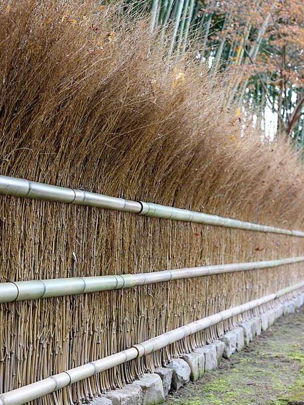 銀閣寺の穂垣