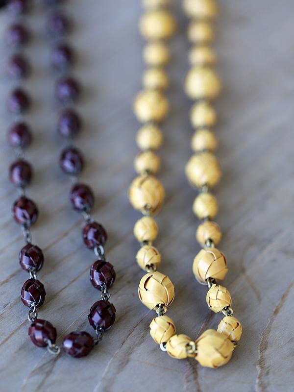竹ネックレス、首飾り