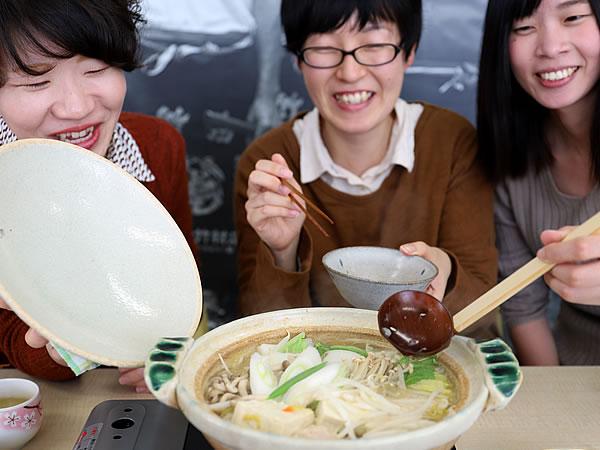 竹の鬼おろしでミゾレ鍋