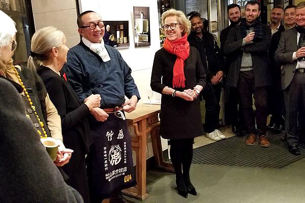 竹虎四代目(山岸義浩)、フランス国内巡回展「日本の日常生活の中の竹」レセプション