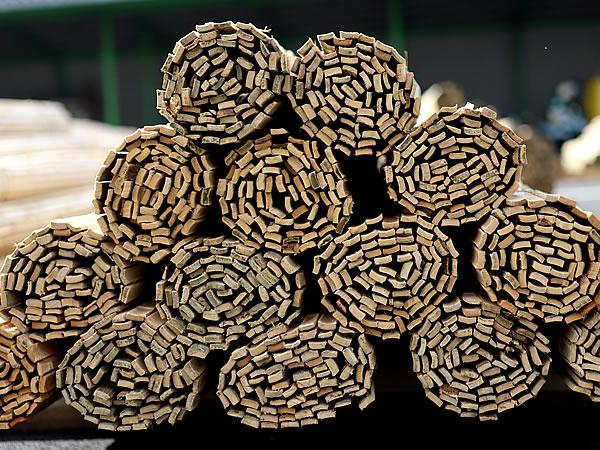 簾状の楽屋竹材