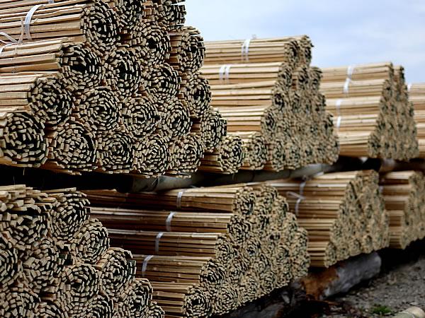 日本製の楽屋竹