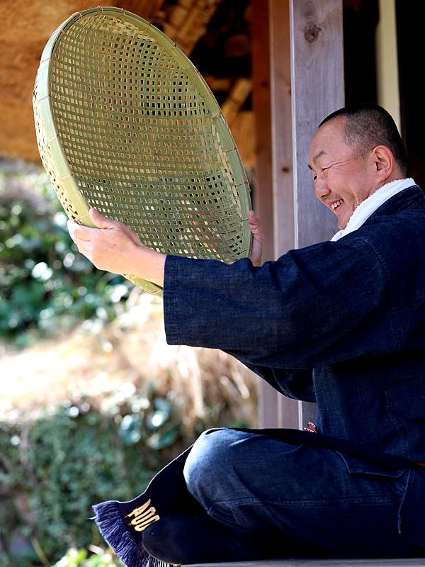 日本製四ツ目竹ざる60センチ