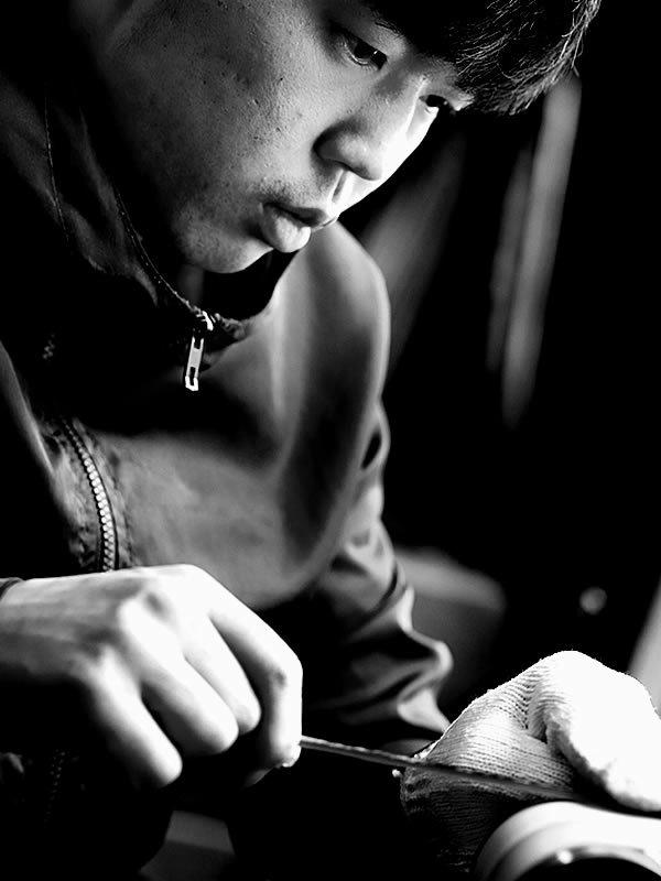 虎竹削り箸職人