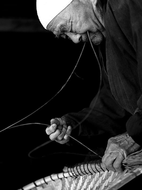 熟練の竹職人