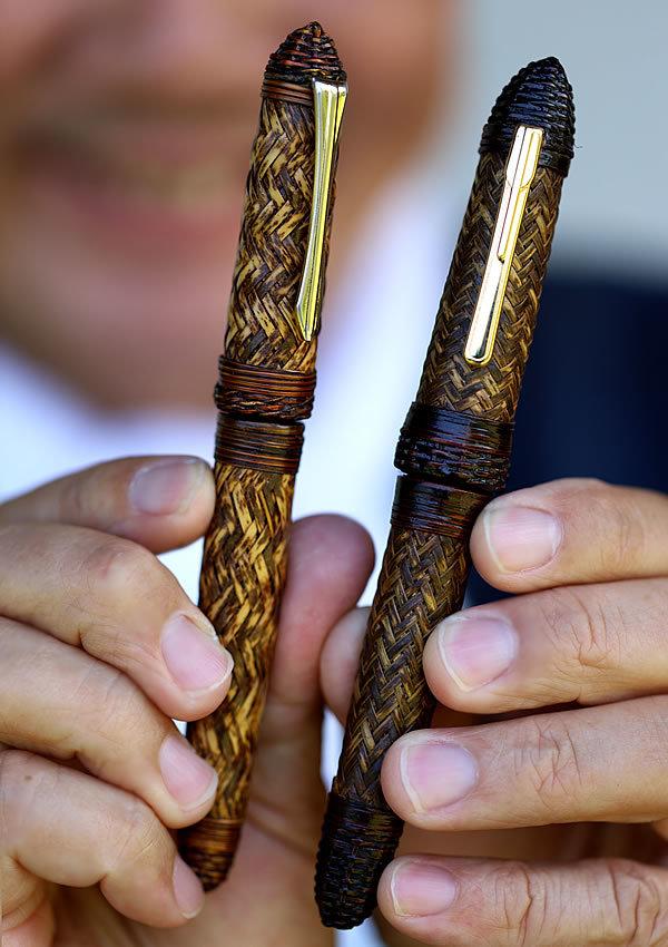 愛用の虎竹ペン