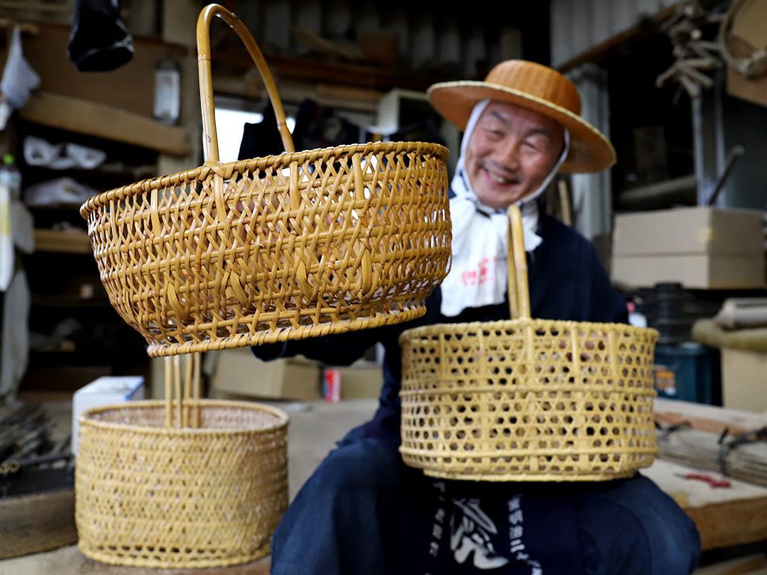 根曲竹買い物籠