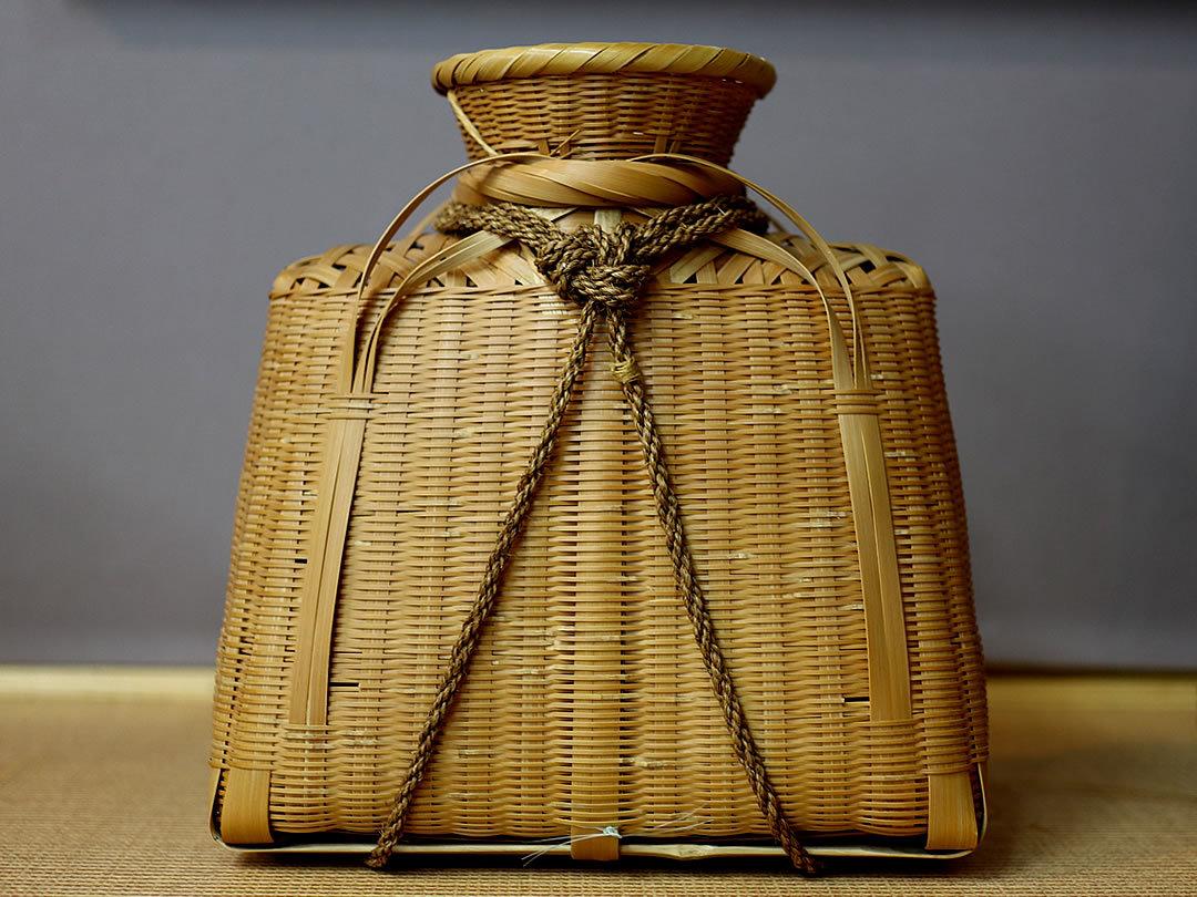 廣島一夫作竹籠シタミ