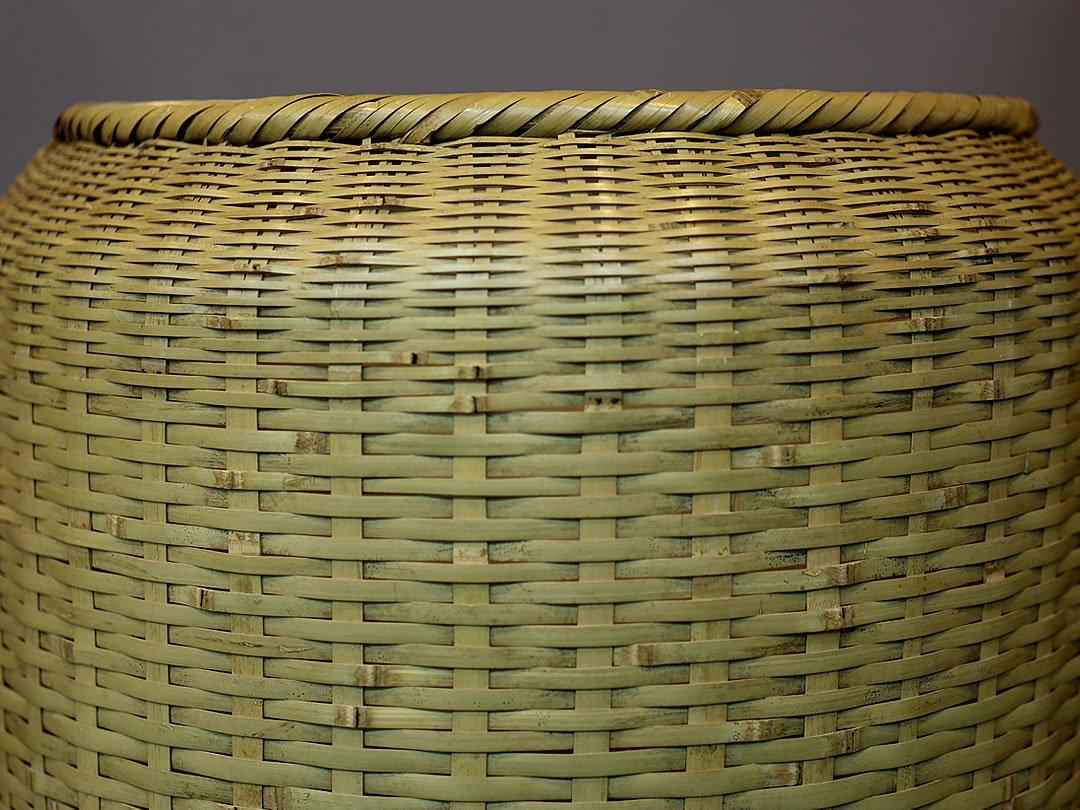 廣島一夫作竹籠クワカゴ