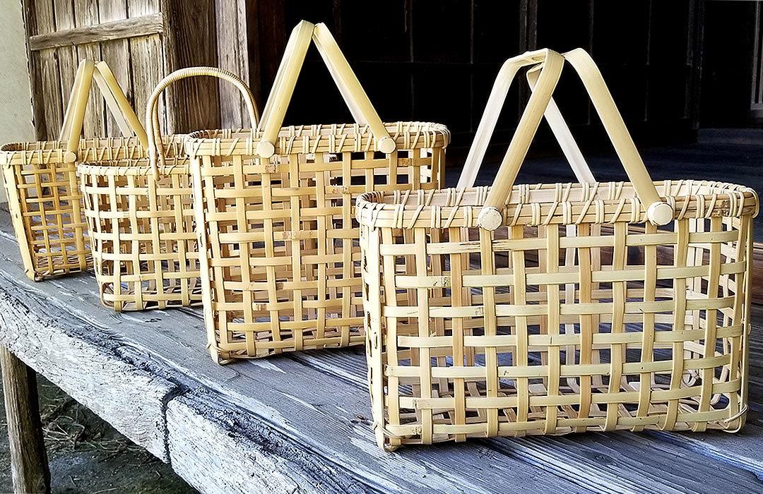竹買い物籠バッグ