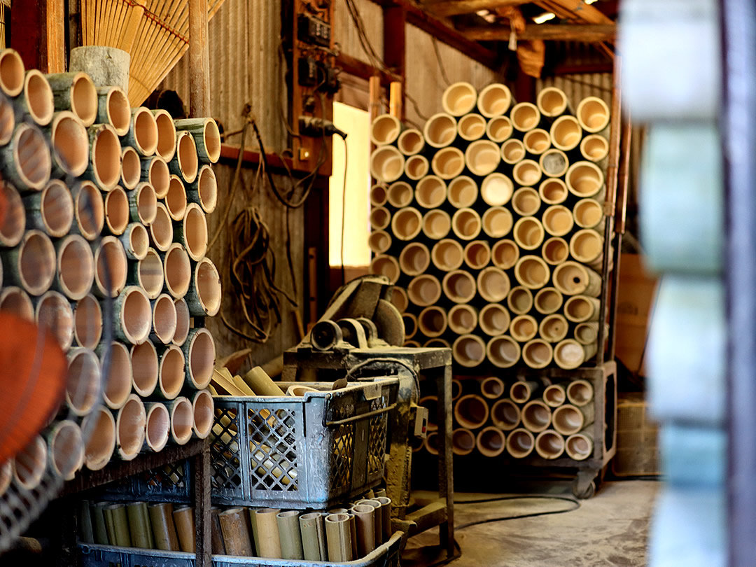 日本製竹熊手工場、孟宗竹