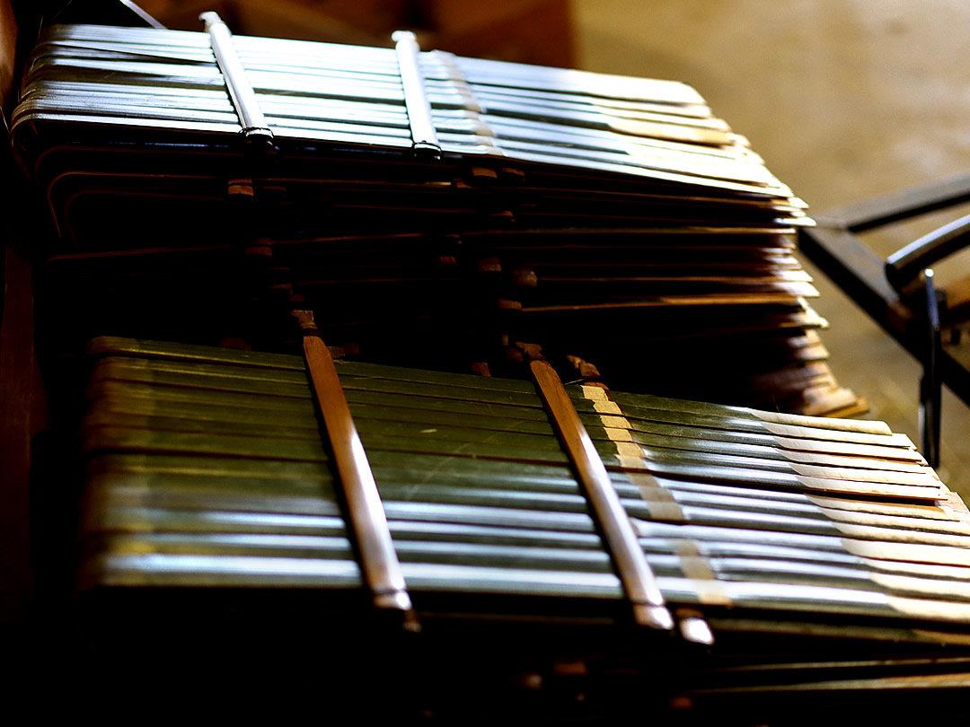 国産竹熊手工場竹材