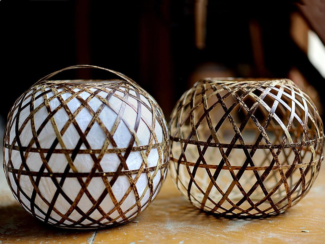 虎竹フロアライト製作