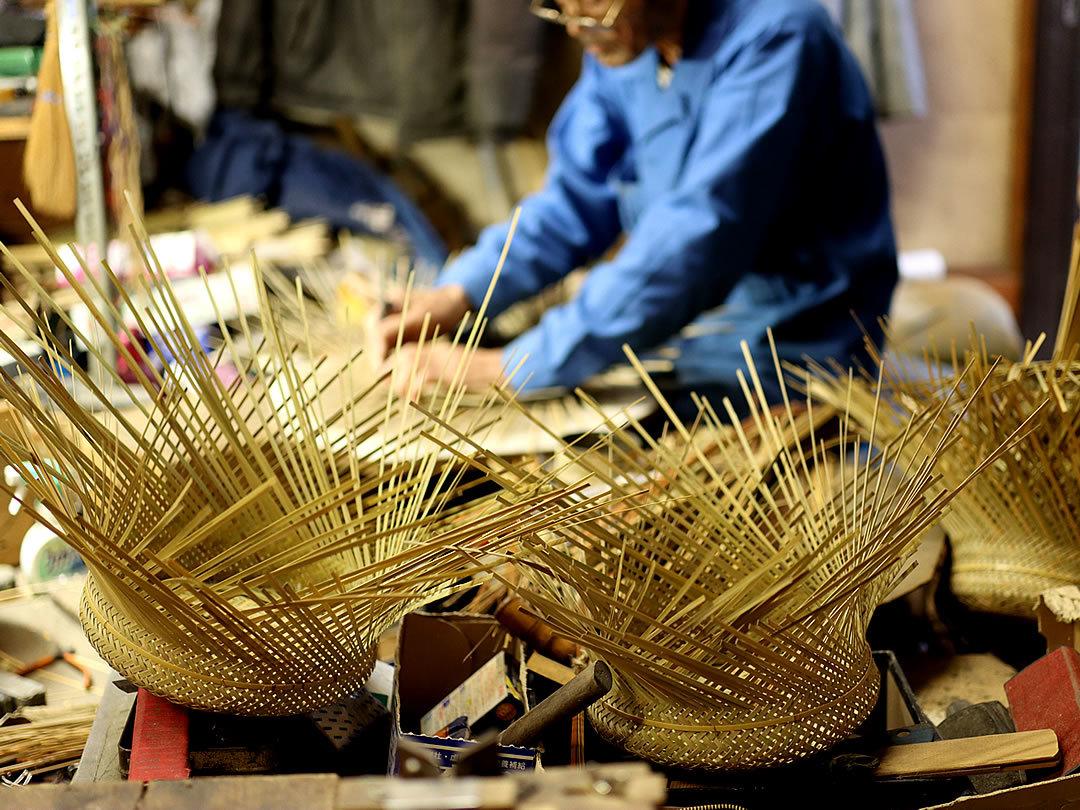 竹細工、無双籠づくり