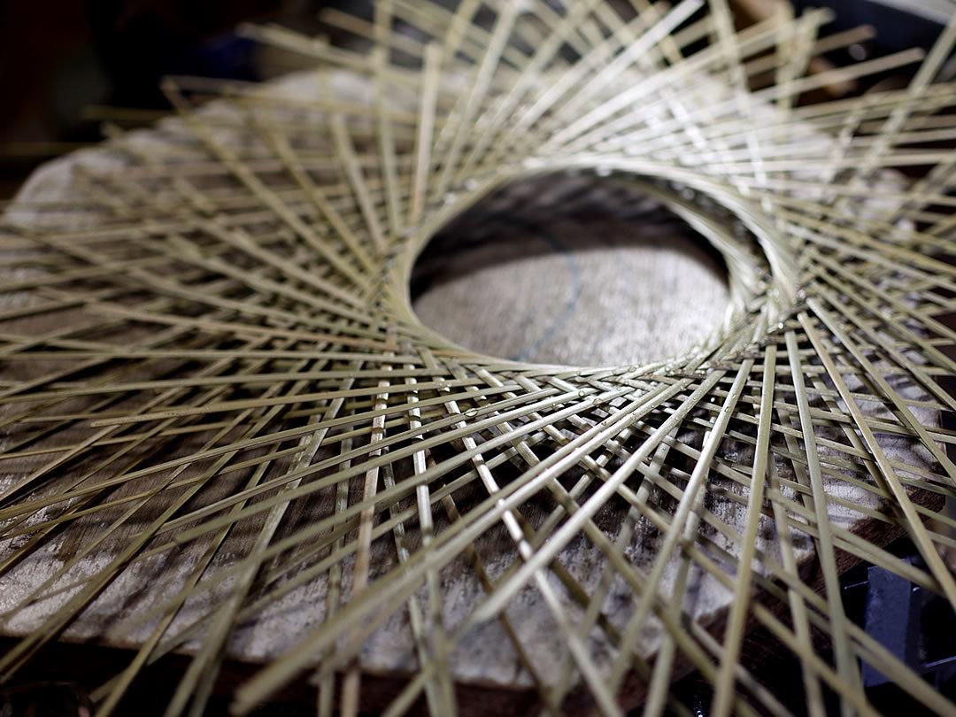 竹細工、輪弧編み