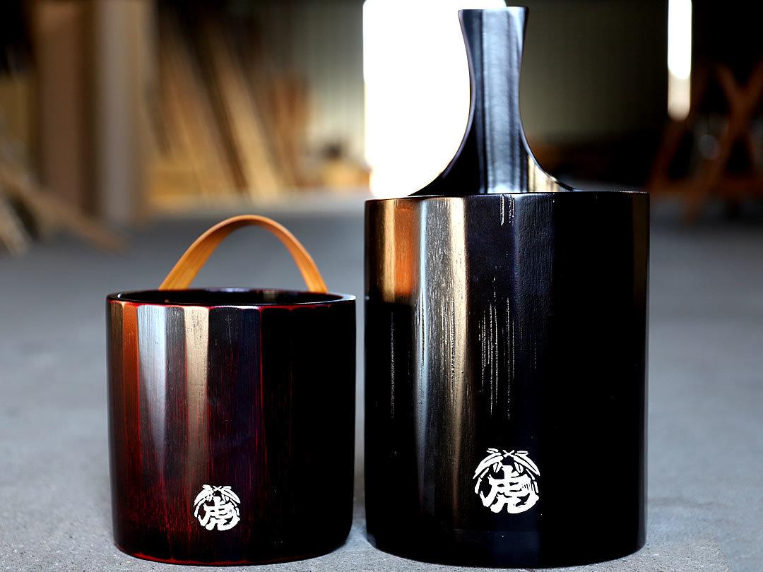 竹ワインクーラー、竹アイスペール